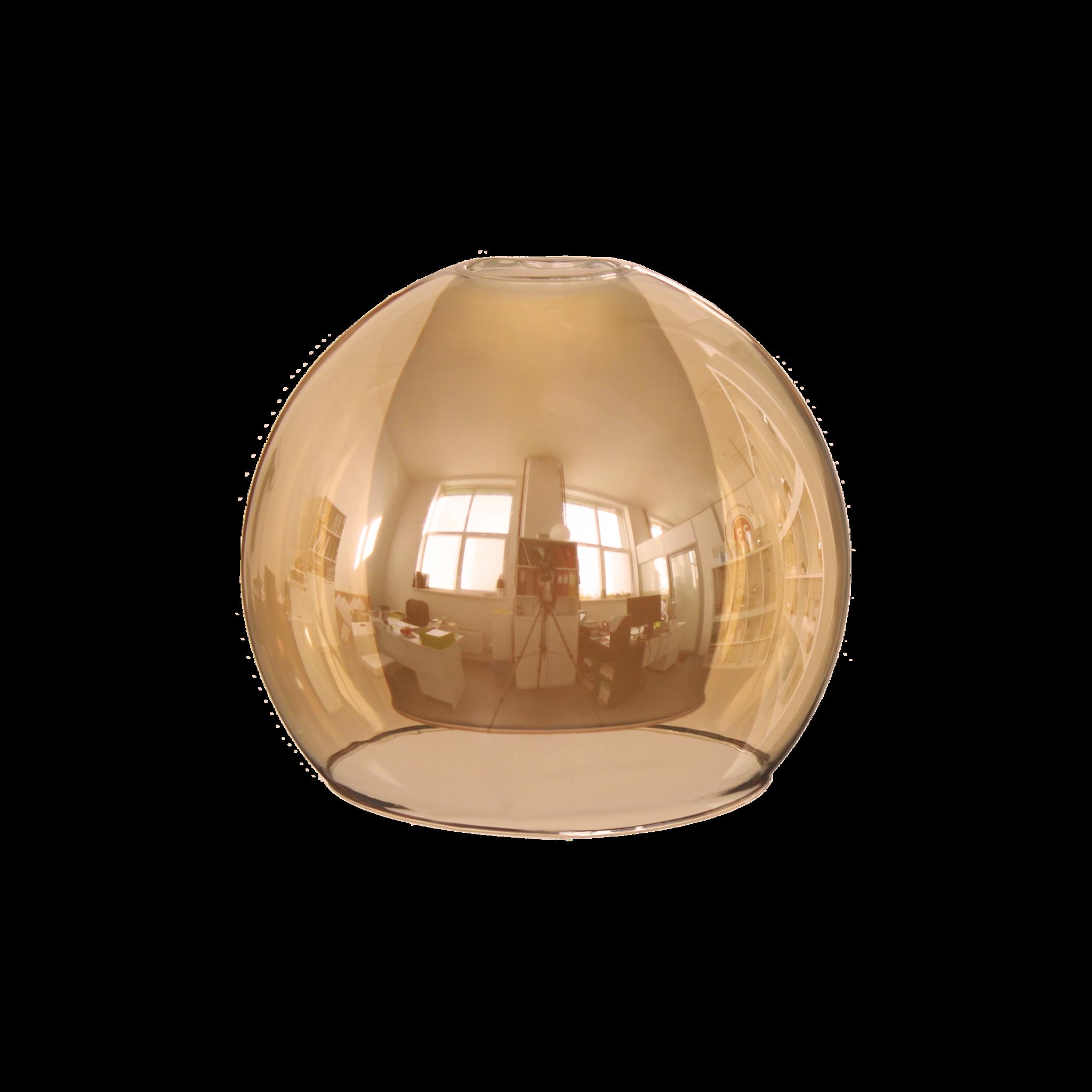 Плафон двойной полушар S.12.AM янтарный